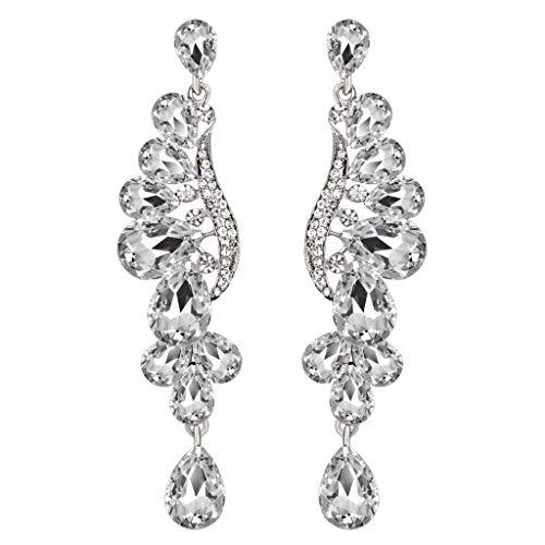 UINGKID Damen Ohrringe Mode Ohrstecker Vintage Luxus voller Diamant Temperament ()