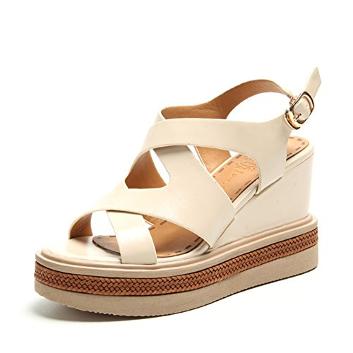 Pendenza con le scarpe con la suola spessa piattaforma/Cinghie aumentate con scarpe romane F