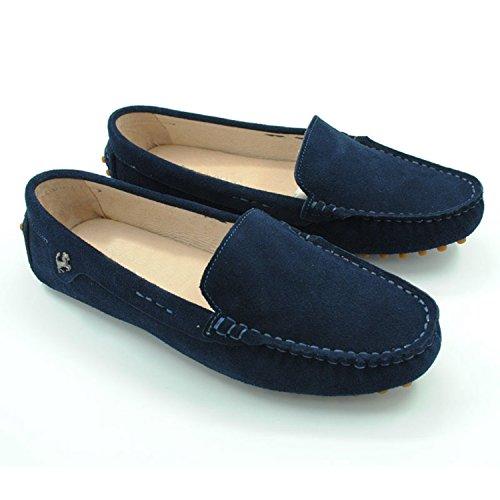 Minitoo da donna casual punta arrotondata Mocassini slipper Flats Dark Blue