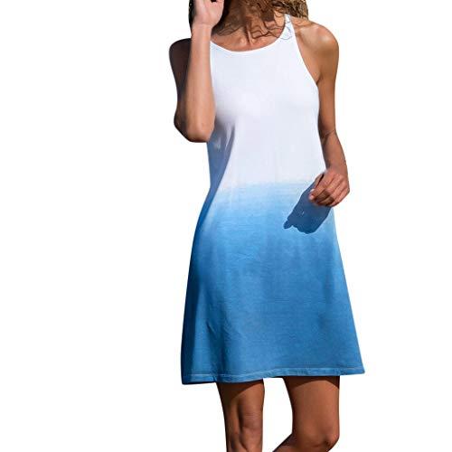 Damen Shirt Sommer Kurzarm Farbblock Streifen Tops Rundhals Bluse -