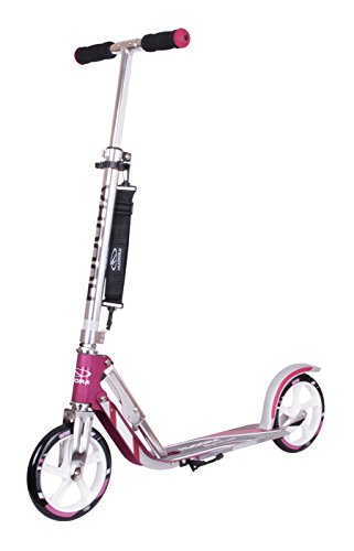 HUDORA Big Wheel Scooter 205 - Das Original, Tret-Roller klappbar - City-Scooter - 14764, magenta/silber