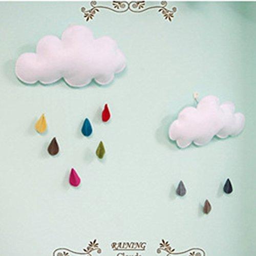 LUOEM Kinderzimmer Dekoration Wolken Regentropfen Hängende Deko Babyparty - 7