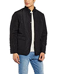 US Polo Association Mens Synthetic Jacket (8907163188007_USJK0359_Black_XXL)