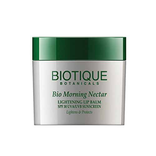 Biotique Bio Morning Nectar Lightening Lip Balm Spf 30 Uva/Uvb Sunscreen Lightens & Protects, 12G