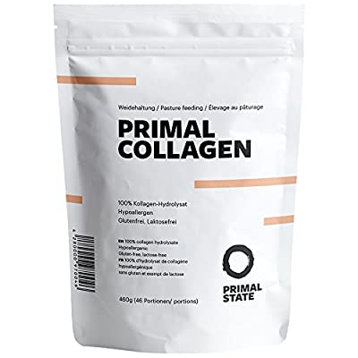 PRIMAL COLLAGEN Protein | Premium Collagen Hydrolysate Peptides | Pasture raised | Type I and Type II | Lift Drink | Analyzed | Tasteless and No Additives - 460g