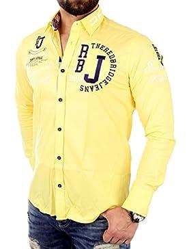 [Sponsorizzato]Redbridge - Camicia casual, Uomo