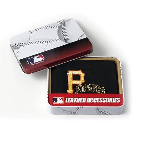 MLB Pittsburgh Pirates bestickt echtes Rindsleder Leder Trifold Wallet