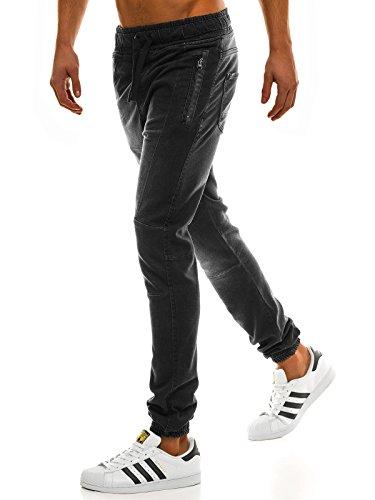 ozonee Jeans Uomo Jeans Jeans Pantaloni sportivi Pantaloni per TEMPO LIBERO Pantaloni da Ginnastica pareggiatore otantik 1805 NERO_otn-1805