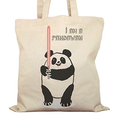 Tote Bag Imprimé Ecru - Toile en coton bio - I'm a Pandawan