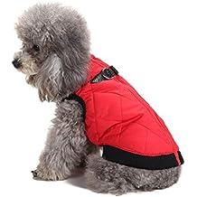 Chaleco de perro mascota abrigo chaleco chaqueta de chaleco de moda acolchado perro de bombero chaleco de invierno perro ropa chaleco cálido ocasional