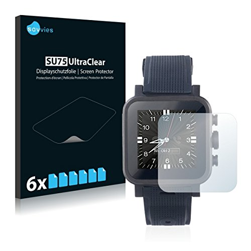 6x Savvies SU75 UltraClear Bildschirmschutz Schutzfolie für Simvalley Mobile AW-420.RX (ultraklar, mühelosanzubringen)
