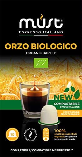Must espresso italiano 100 capsule compatibili nespresso orzo bio - 10 confezioni da 10 capsule