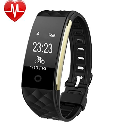 Fitness Tracker,YAMAY® HR4 Braccialetto Fitness con Cardiofrequenzimetro da polso Activity Tracker Cardio Impermeabile IP67,Orologio Fitness Watch Bluetooth Smart Band Pedometro Notifiche Chiamate e SMS Compatibile per Android e iOS Smartphone