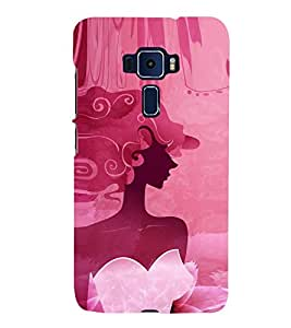 Fuson Designer Back Case Cover for Asus Zenfone 3 Deluxe ZS570KL (5.7 Inches) (Beautiful Girl Stunning Pretty Lovely Cute)