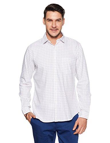 Van Heusen Sport Men's Plain Slim Fit Cotton Casual Shirt (VSSF318S011682_White_42)