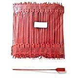 100 Sigilli di sicurezza a strozzo in plastica. Economico, regolabile con un'applicazione veloce e sicura. Lunghezza 20…