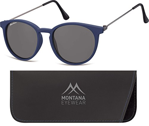 Montana S33, Gafas de Sol Unisex Adulto, Multicolor (Blue + Smoked Lenses), Talla única