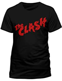 Live Nation Men's The Clash - First Album Logo Crew Neck Short Sleeve T-Shirt