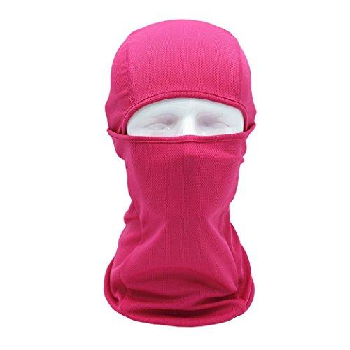 ke erthome Gesichtshaube Motorrad Radfahren Jagd Outdoor Ski Full Face Maske Helm (Pink) (Cool Einfach Gesicht Farben Für Halloween)