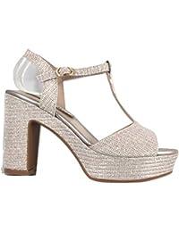 8e7c12fe9b7 Amazon.es  zapatos color champagne - Últimos tres meses   Sandalias ...