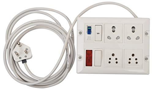 BITCORP SAFE-ex Polycarbonate Heavy Power Strip Extension Box (White)