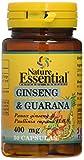 Nature Essential Complemento Alimenticio, GINSENG & GUARANA 400 MG, 50 Capsulas