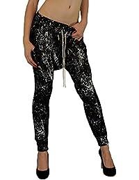 Damen Hip-Hop-Tanz/ Baggy Pants/ Pluderhosen im low drop crotch Style in moderner Spritzoptik Gr.: XS - L ,34 - 40