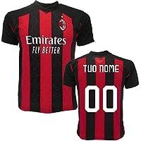 BrolloGroup Maglia Milan Personalizzata Maglietta AC Milan Maglie Calcio Replica 2021 PS 39487 (8 Anni)
