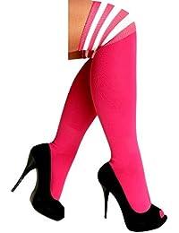 krautwear - Calcetines hasta la rodilla - Rayas - para mujer
