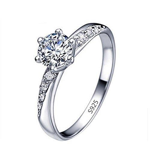 daliuing Mode Elegante Ring Diamant Intarsien Silber Ring für Frauen Mädchen Schmuck Geschenk
