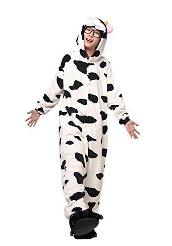 LATH.PIN Jumpsuit Tier Karton Fasching Halloween Kostüm Sleepsuit Cosplay Fleece-Overall Pyjama Schlafanzug Erwachsene Unisex Lounge Nachtwäsche S/M/L/XL (L, (Kostüm L Cosplay)