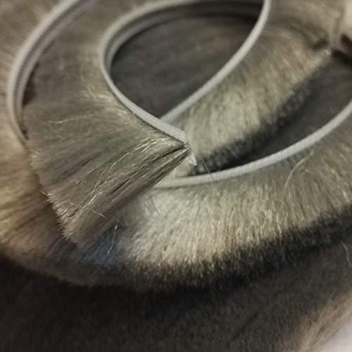 Schiebetürbürstendichtung Filz Zugluftstopper Einsatz Wolle, Flor, Wetterabisolierung, wetterfest, 10 m 6.8 x 25mm grau -