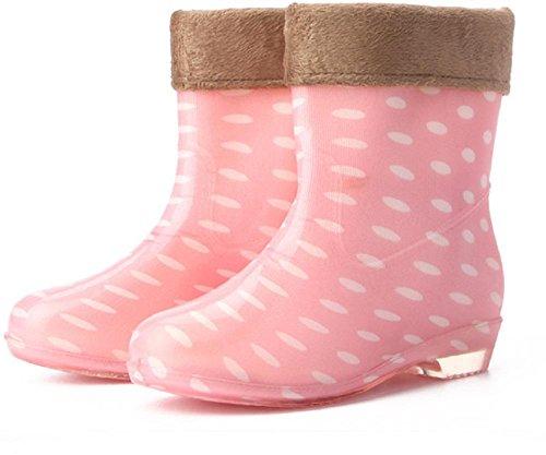 Ms. all'aperto di gomma stivali da pioggia Pink