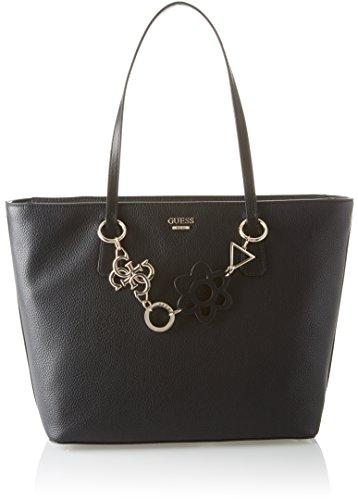 Guess Damen Bags Hobo Schultertasche, Schwarz (Black), 13x29x43 centimeters