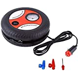 SAAN Life Science Car Air Compressor,Car Tire Inflator Round Shape Mini Electric, NDC12V Portable Auto Air Pump 2.5M…