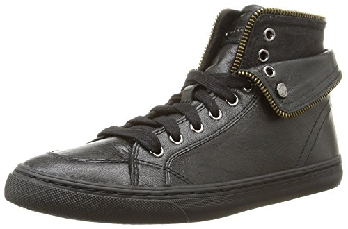Geox D New Club D, Damen Hohe Sneakers Schwarz (c9999/capra)