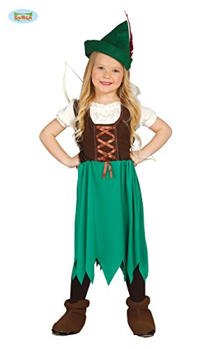N MÄDCHEN - Größe 110-115 cm ( 5-6 Jahre ), Mittelalter Verfilmung Film Wald Räuber Dieb Bogenschütze (Mädchen Halloween Kostüme Robin)