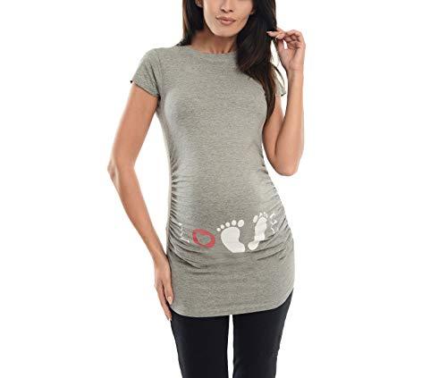 c7641dd64 ▷ ▷ ❤ Camisetas para embarazadas con huellas de bebé muy ...
