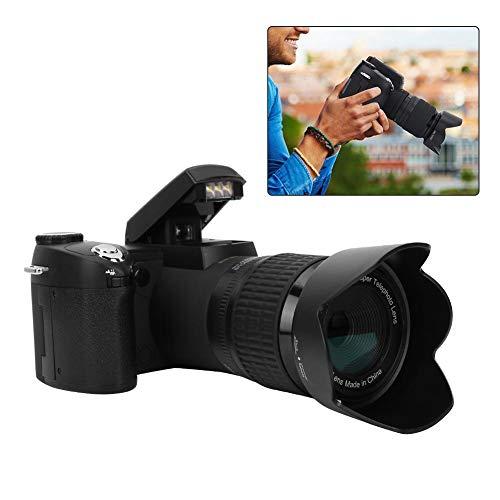 Jacksking Digitalkamera, D7200 33MP Digitalkamera DSLR 0,5X Weitwinkelobjektiv + 24X Teleobjektiv + LED-Licht, Digitaler Camcorder
