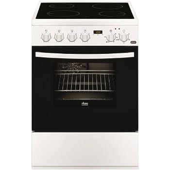 Faure FCV6530CWA Autonome Céramique A Blanc four et cuisinière - Fours et cuisinières (Cuisinière, Blanc, boutons, Rotatif, En haut devant, Céramique, Verre-céramique)