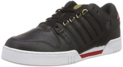 k-swiss-avery-sneakers-basses-homme-noir-schwarz-blk-drkshdw-rbnred-060-415