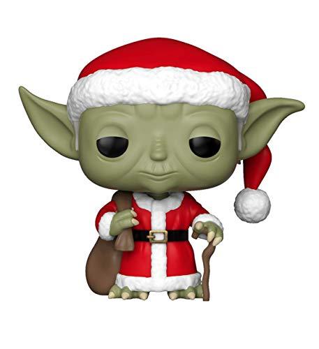 Funko 33885 Star Wars: Holiday Santa Yoda POP Bobble, Multi