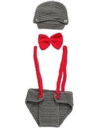 2a895b62e88 Bigood Ensemble Bébé Mixte Tricot Crochet Costume Déguisement Photographie
