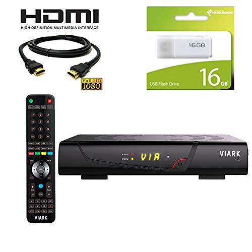 Kit Receptor viark Sat Regalo Cable HDMI + USB 16GB