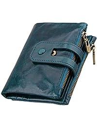64104ab678012a Geldbörse mit RFID Schutz Herren Echtleder Portemonnaie Für Männer  Reißverschluss Brieftasche ...