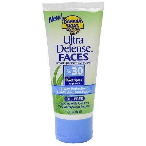 Banana Boat Ultra Defense Faces Broad Spectrum Lotion SPF 30 Sunscreen, 3 oz