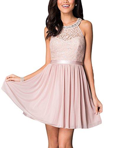 Bridal_Mall - Robe - Trapèze - Sans Manche - Femme Rose - Rose bonbon