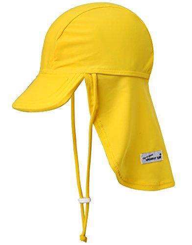 Vaenait baby Flap Cap Maedchen Badekappe Sommermuetze UV-Schutz Sonnenschutz Yellow L