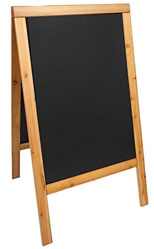 Securit lackiert Sandwich Kreidetafel, Hartholz, Teak, 70x 120cm