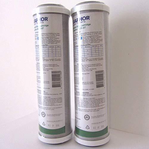 Aquaphor B510 07 25 x 10 SL CTO cartuccia ai carboni attivi di cocco con ioni dargento per rimuovere sostanze organiche cloro e pesticidi pacco